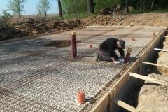 Finalizace podkladu pro betonáž desky