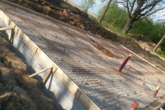 Příprava před betonáží desky