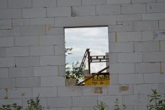 Tady bude okno do koupelny