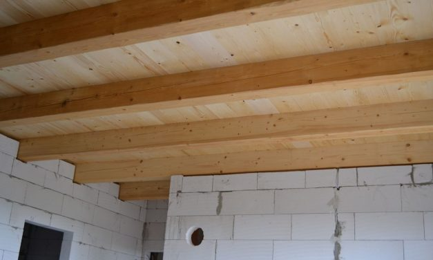 Dřevěný strop na chalupě